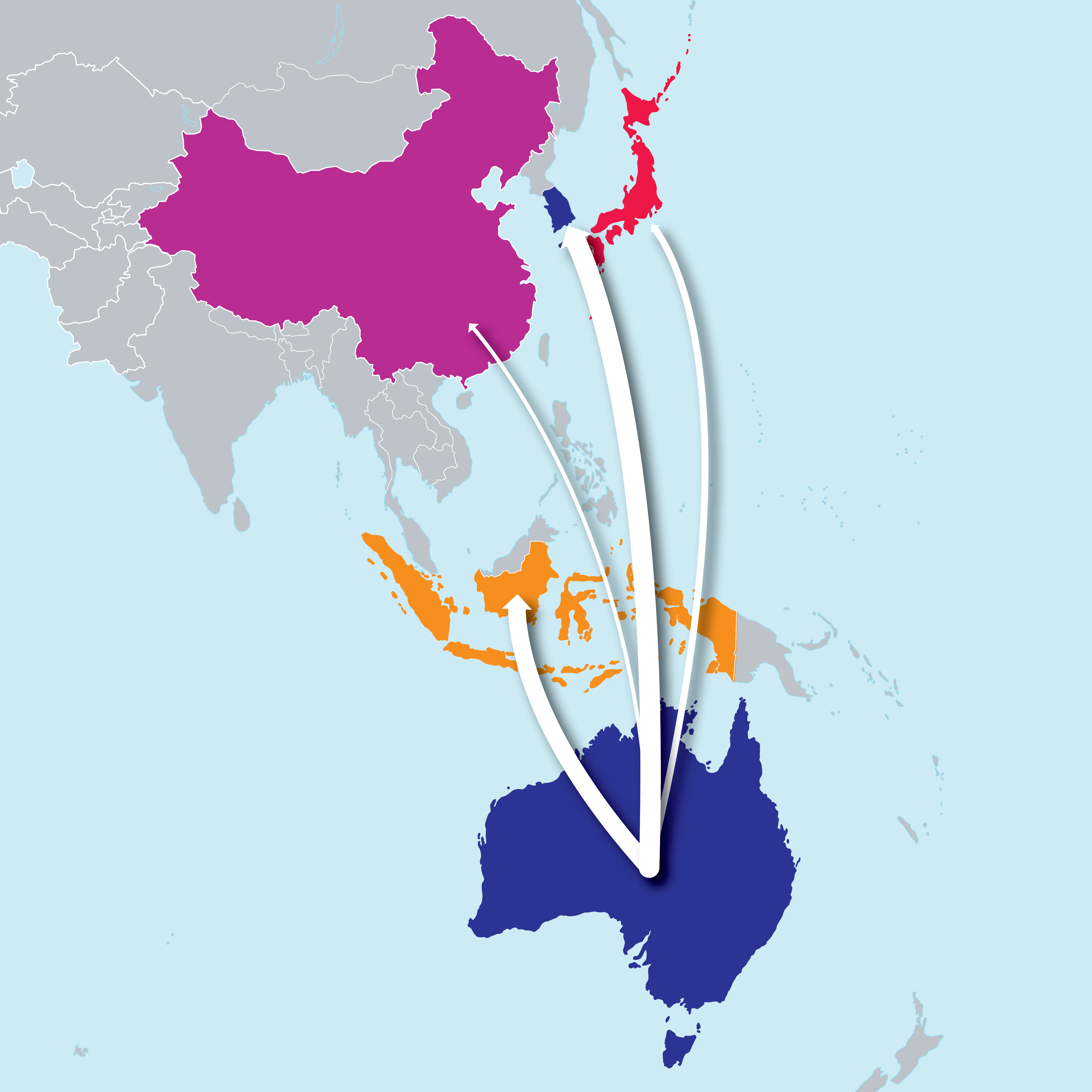 picture of South-east Asian sugar trade flows