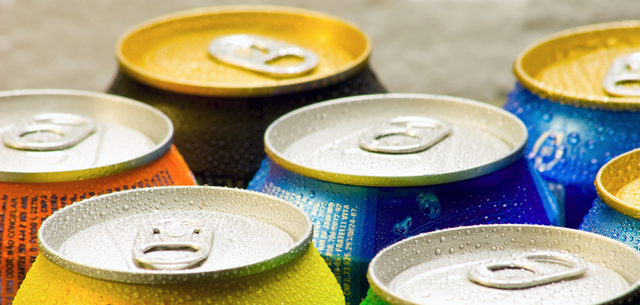 picture of softdrink cans