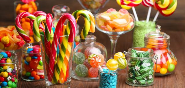 Picture of candy in jars