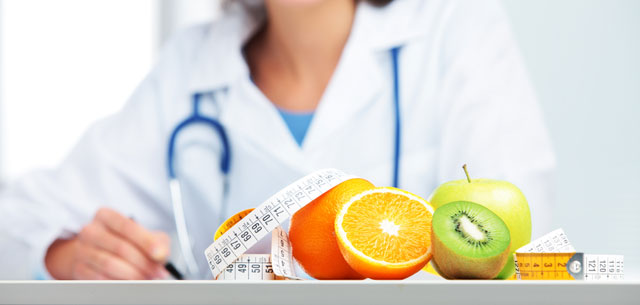 picture of health food and doctor