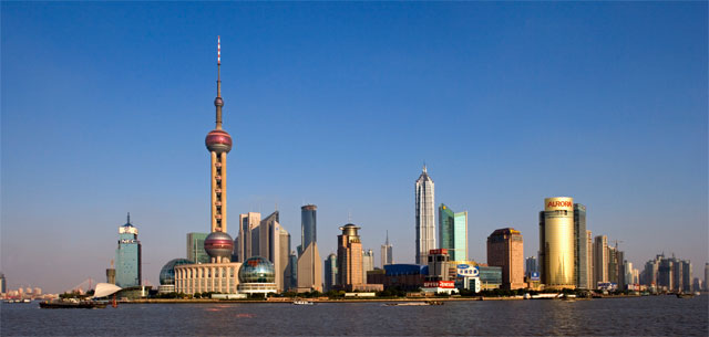 picture of Shanghai skyline