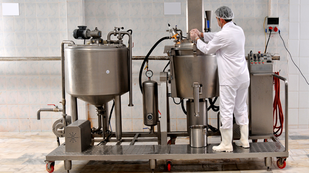 photo of dairy processing equipment