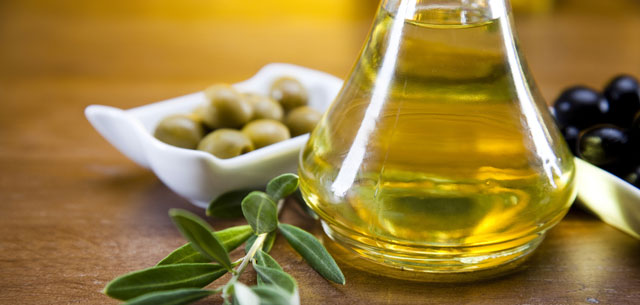 picture of olives, olive oil and olive branch