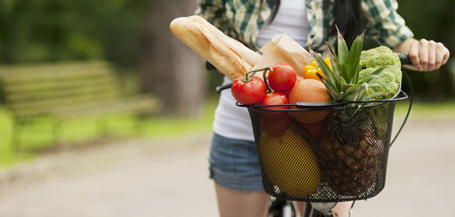 picture of grocery basket with fruit and veg