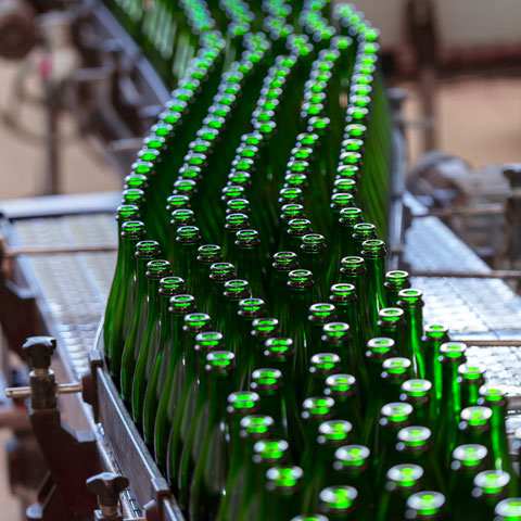 picture of beer bottle production