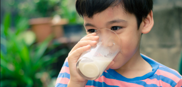 Picture of boy drinking milk