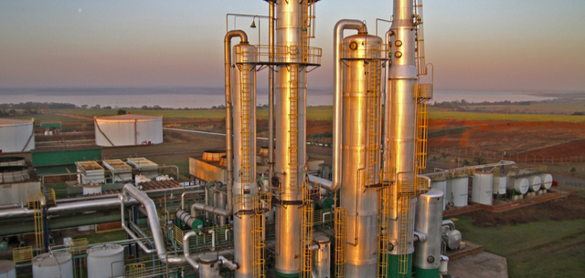 Picture of an Ethanol plant in Brazil
