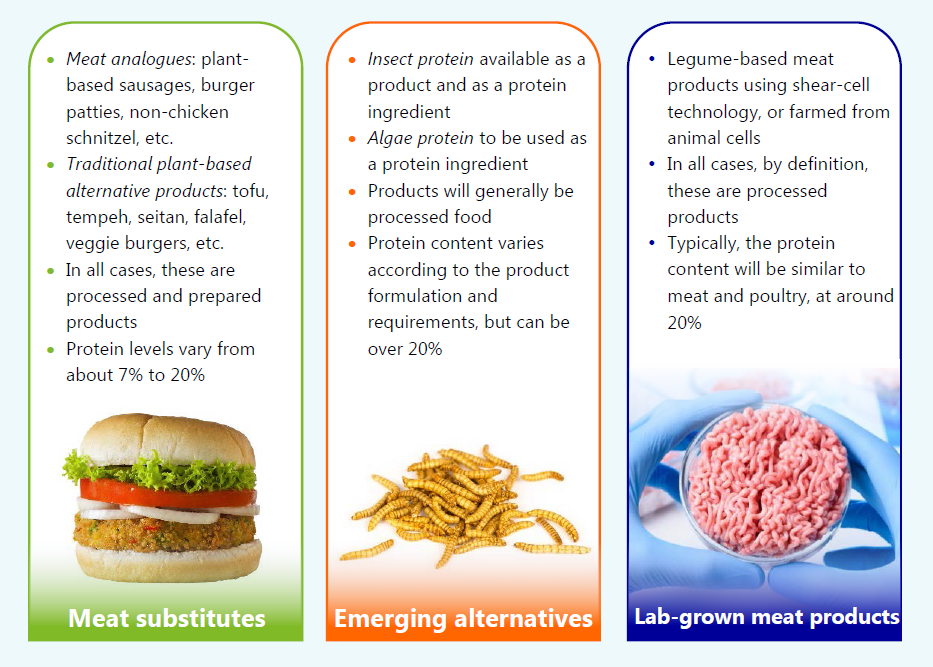visual with alternative protein products
