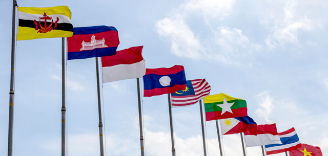 photo of ASEAN country flags